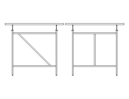 アイアーマンテーブルの特徴:高さ調整